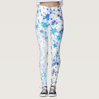 Blue starburst leggings