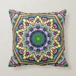 blue starbust zen-doodle cushion