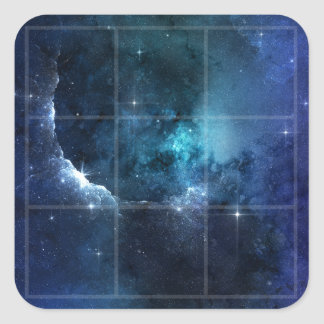 Blue Stardust Grid Blue Stars Sticker
