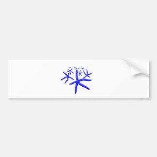 blue starfish bumper sticker