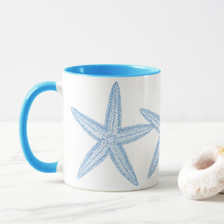 BLUE STARFISH DESIGN MUG