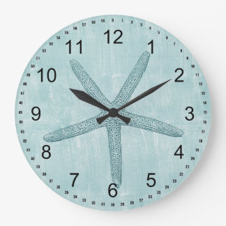 Blue Starfish Wall Clock
