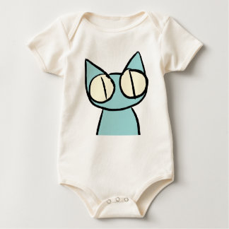 Blue Staring Cats Baby Bodysuit