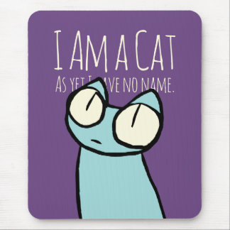 Blue Staring Cats Mouse Pad