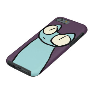 Blue Staring Cats Tough iPhone 6 Case