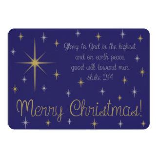 Blue Starry Night Christmas Card