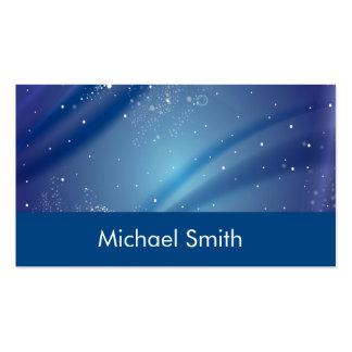 Blue Starry Night Monogram Business Cards