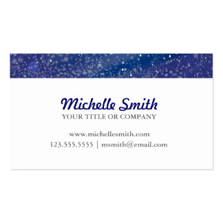 Blue Starry Night Monogram Business Cards