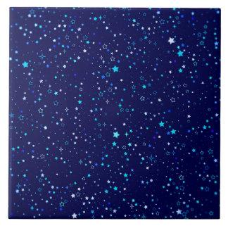 Blue Stars 2 Ceramic Tile