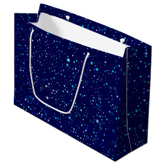 Blue Stars 2 Large Gift Bag