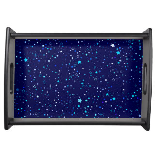 Blue Stars 2 Serving Tray