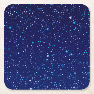 Blue Stars 2 Square Paper Coaster