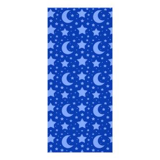 blue stars and moon patterns custom rack card