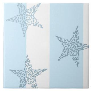 Blue Stars and Stripes Large Square Tile