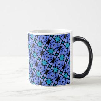 blue stars and stripes pattern mugs