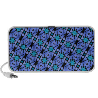 blue stars and stripes pattern travelling speakers