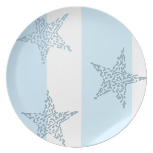 Blue Stars and Stripes Dinner Plates