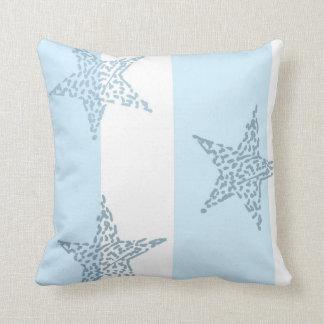 Blue Stars and Stripes Throw Cushion