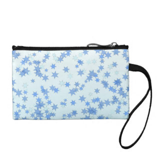 Blue Stars Design Change Purses