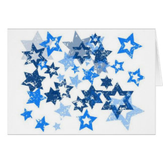 Blue Stars Greeting Cards
