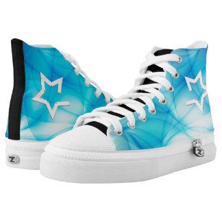 Blue Stars High Tops