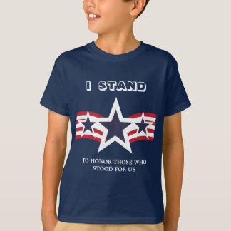 Blue Stars I Stand To Honor T-Shirt