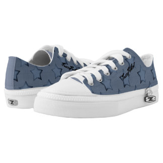 Blue stars low tops