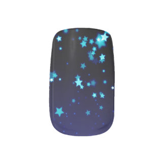 Blue Stars - Minx Nail Art, Single Design per Hand Minx Nail Art