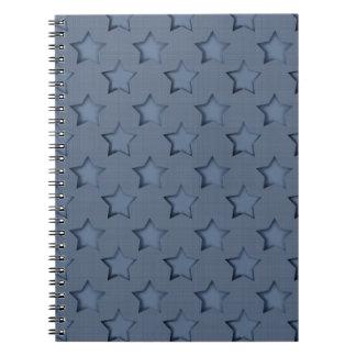 Blue stars notebook