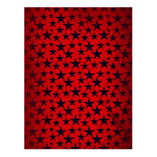 Blue stars on red grunge background greeting card