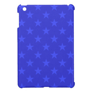 Blue stars pattern iPad mini case
