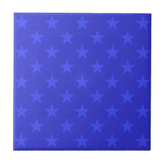 Blue stars pattern tile