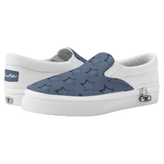 Blue stars printed shoes