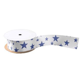 Blue Stars Ribbon Satin Ribbon