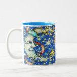 Blue Stars Sun and Moon Design Coffee Mug