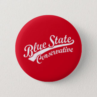 Blue State Conservative 6 Cm Round Badge