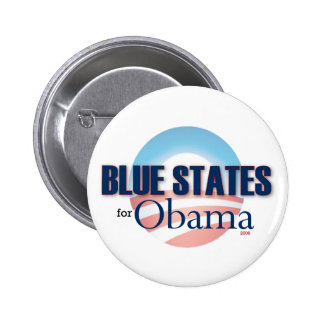 Blue States for Obama 6 Cm Round Badge