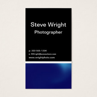 Blue steel business card
