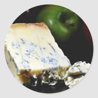 Blue Stilton Cheese Classic Round Sticker