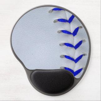 Blue Stitches Baseball / Softball Gel Mouse Pad