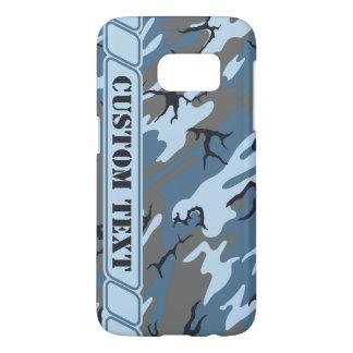 Blue Stone Camo Phone Case w/ Custom Text