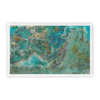 Blue Stone Image Acrylic Tray