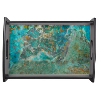 Blue Stone Image Serving Tray