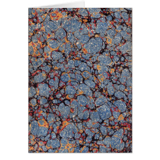 Blue Stone Marbled Paper Card