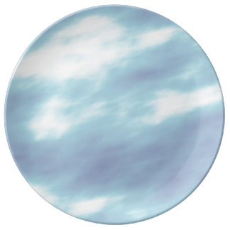 Blue Storm Clouds Plate