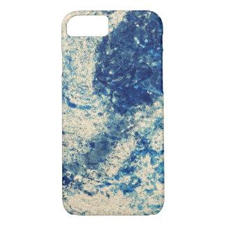 Blue Storm Splatter iPhone 7 Case