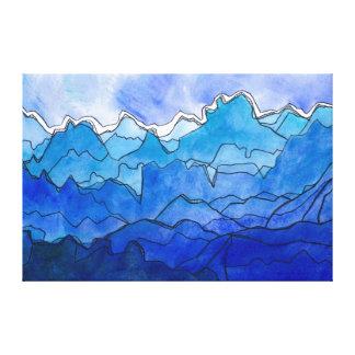 Blue Strata Canvas Print