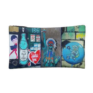 BLUE Street Art Cosmetics Bag