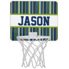 Blue Stripe Personalised Mini-Basketball Goal Mini Basketball Hoop