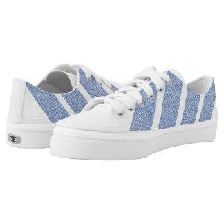 blue stripe printed shoes